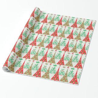 Papier Cadeau papier d'emballage d'arbre de Noël de bande