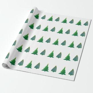 Papier Cadeau Papier d'emballage d'arbres de Noël