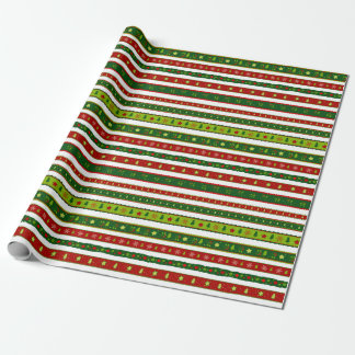 Papier Cadeau Papier d'emballage d'arbres de Noël d'étoiles de