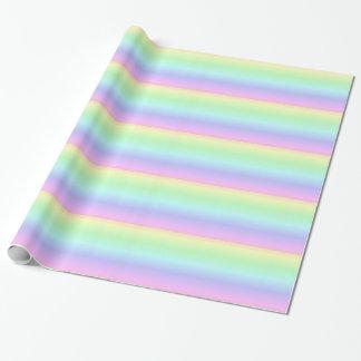 Papier Cadeau Papier d'emballage d'arc-en-ciel en pastel