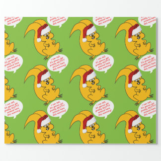 Papier Cadeau Papier d'emballage de bande dessinée d'écureuil de