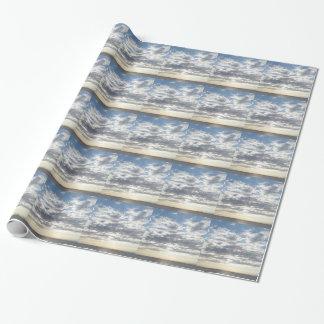 Papier Cadeau Papier d'emballage de beaux nuages