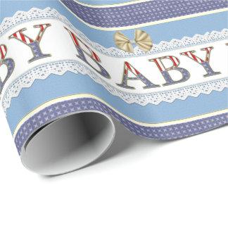 Papier Cadeau Papier d'emballage de bébé de bébé militaire de