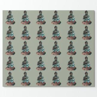 Papier Cadeau Papier d'emballage de Bouddha de pierre gemme