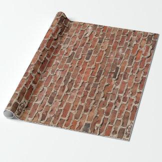 Papier Cadeau Papier d'emballage de brique rouge