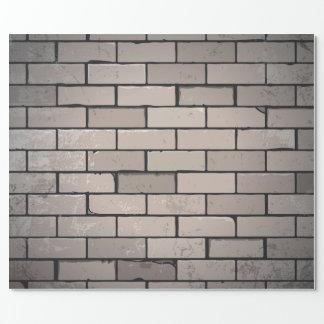 Papier Cadeau Papier d'emballage de briques de texture grunge de