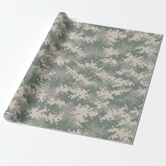 Papier Cadeau Papier d'emballage de camouflage de Digitals