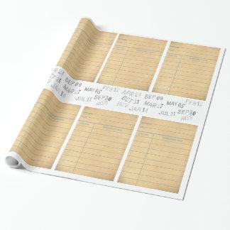 Papier Cadeau Papier d'emballage de carte de bibliothèque