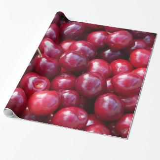 Papier Cadeau Papier d'emballage de cerises