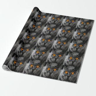 Papier Cadeau Papier d'emballage de chat noir