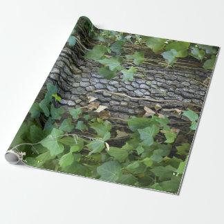 Papier Cadeau Papier d'emballage de chêne et de lierre