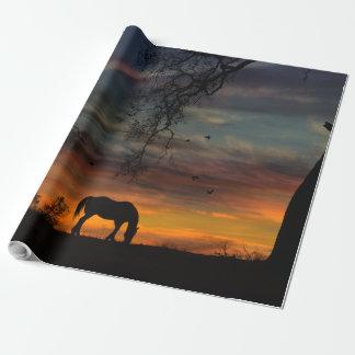 Papier Cadeau Papier d'emballage de cheval du sud-ouest