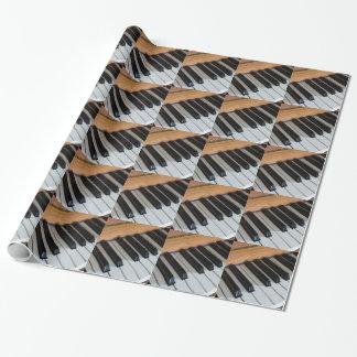 Papier Cadeau Papier d'emballage de clés de piano