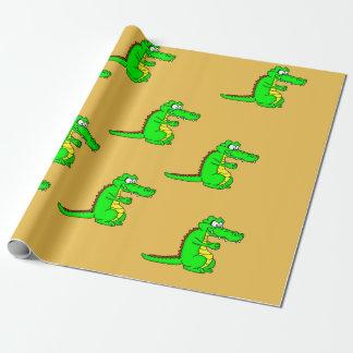 Papier Cadeau Papier d'emballage de conception d'alligator