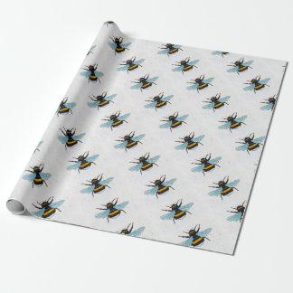 Papier Cadeau Papier d'emballage de conception de bourdon