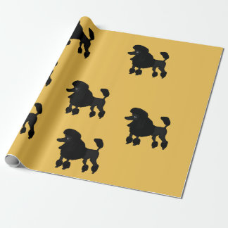 Papier Cadeau Papier d'emballage de conception de caniche