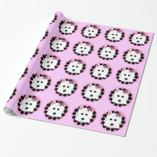 Papier Cadeau Papier d'emballage de conception de chien de