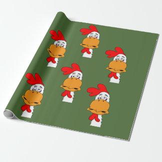 Papier Cadeau Papier d'emballage de conception de coq