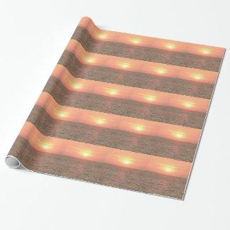 Papier Cadeau Papier d'emballage de coucher du soleil
