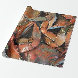 Papier Cadeau Papier d'emballage de crabe