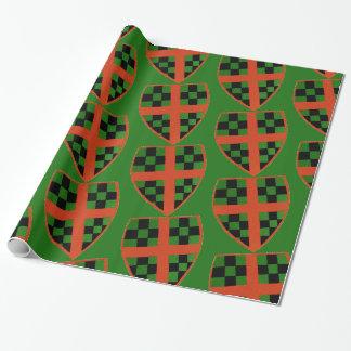 Papier Cadeau Papier d'emballage de crête de Noël