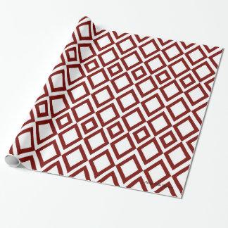 Papier Cadeau Papier d'emballage de diamant rouge
