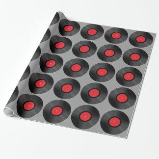 Papier Cadeau Papier d'emballage de disque vinyle