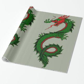 Papier Cadeau Papier d'emballage de dragon chinois