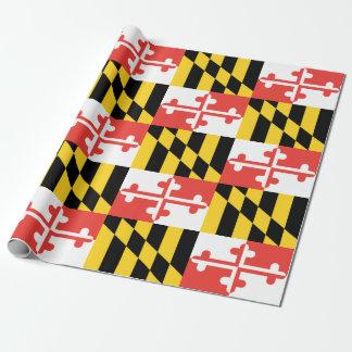"""Papier Cadeau Papier d'emballage de drapeau du Maryland, 30"""" x"""