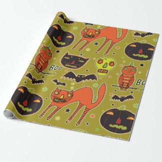Papier Cadeau Papier d'emballage de face à face de Halloween