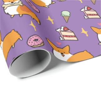 Papier Cadeau Papier d'emballage de festins de bonbon à corgi