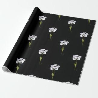 Papier Cadeau papier d'emballage de fleur sauvage blanc