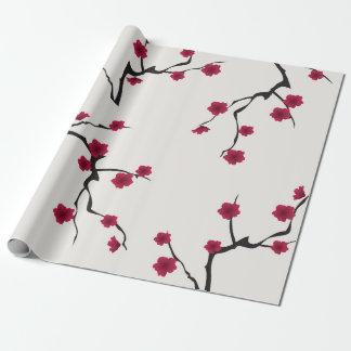 Papier Cadeau Papier d'emballage de fleurs de cerisier