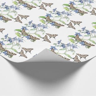 Papier Cadeau Papier d'emballage de fleurs sauvages de bourrache