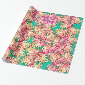 Papier Cadeau Papier d'emballage de fleurs tropicales florales