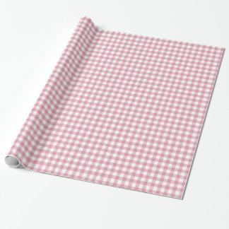 Papier Cadeau Papier d'emballage de guingan assez rose et blanc