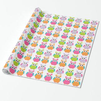 Papier Cadeau Papier d'emballage de hibou rose mignon