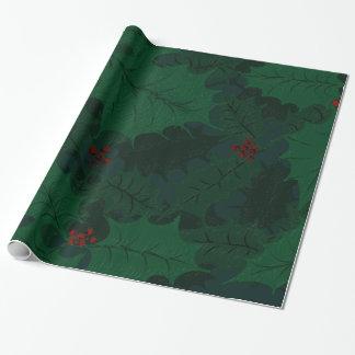 Papier Cadeau Papier d'emballage de houx