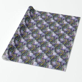 Papier Cadeau Papier d'emballage de jardin d'agrément d'iris