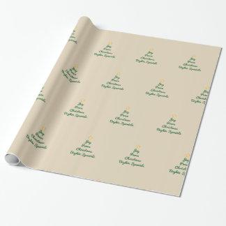 Papier Cadeau Papier d'emballage de Joie-Paix-Noël