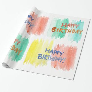 Papier Cadeau Papier d'emballage de joyeux anniversaire