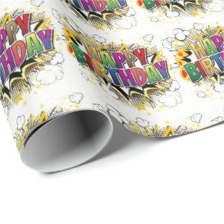 Papier Cadeau Papier d'emballage de joyeux anniversaire de style