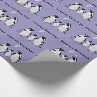 Papier Cadeau Papier d'emballage de lune de pingouin