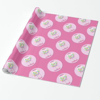 Papier Cadeau Papier d'emballage de machine rose de Bubblegum