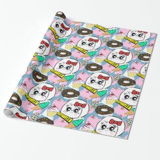Papier Cadeau Papier d'emballage de Marshmella