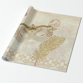 Papier Cadeau Papier d'emballage de mascarade élégante