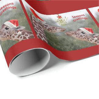 Papier Cadeau Papier d'emballage de moments de gui