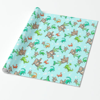 Papier Cadeau Papier d'emballage de monstre de sasquatch de