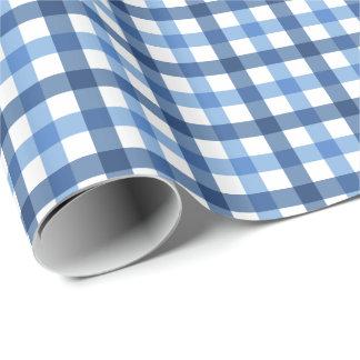 Papier Cadeau Papier d'emballage de motif bleu et blanc de
