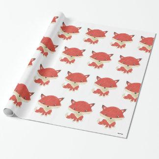 Papier Cadeau Papier d'emballage de motif de Fox de bébé